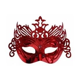 czerwona maska z ornamentem