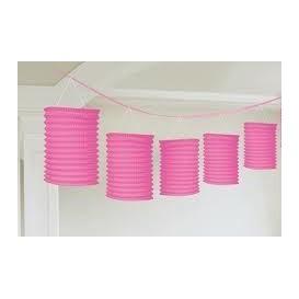 Różowa girlanda z lampionami