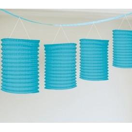 Niebieska girlanda z lampionami