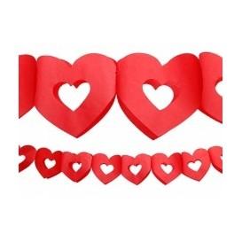 Girlanda papierowa serca