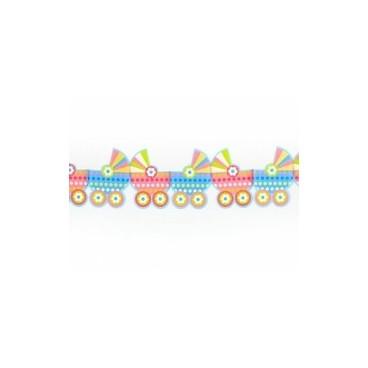 Girlanda papierowa wózki