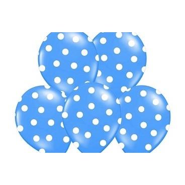 Balony niebieski w kropeczki