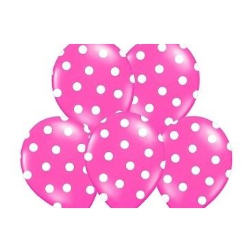 Balony różowe w kropeczki