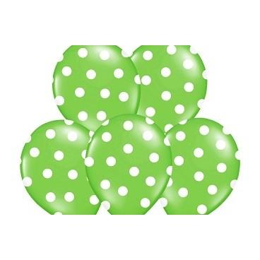 Balony zielone w kropeczki