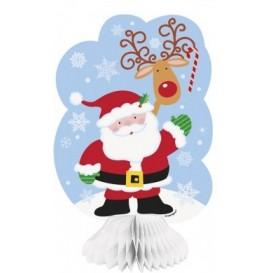 Rozetki Mikołaj z reniferem