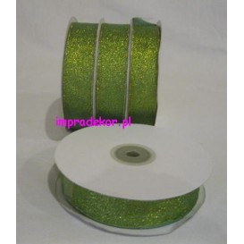 Brokatowa wstążka zielona