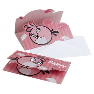 Zaproszenia pink bird