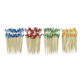 Wykałaczki drewniane z kolorowym celafonem