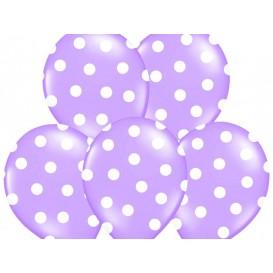 Balony fioletowe w kropeczki