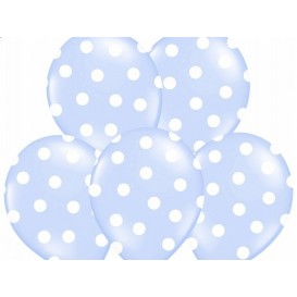 Balony jasno niebieskie w kropeczki