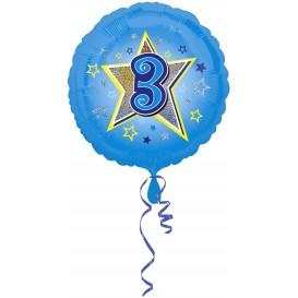 balon foliowy niebieska gwiazdka 3