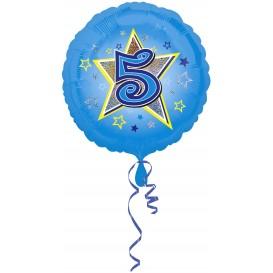 balon foliowy niebieska gwiazdka 4