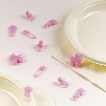 konfetti różowe 3D