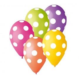 Balony kolorowe w kropeczki