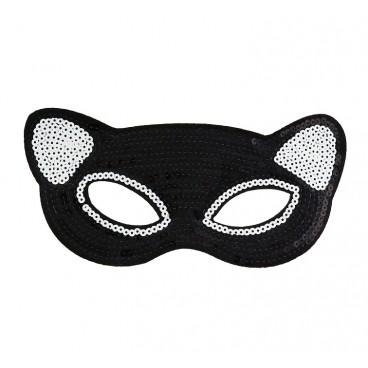 maska cekinowa panda