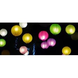 Lampiony papierowe z światełkiem led 30cm