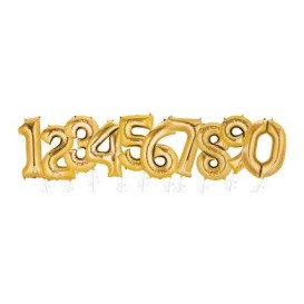 Złoty balon cyfra 86cm