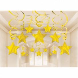 Spiralki złote gwiazdki