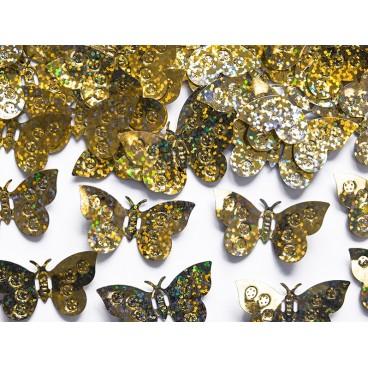 konfetti złote motylki