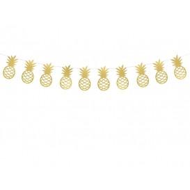 Girlanda złote ananasy