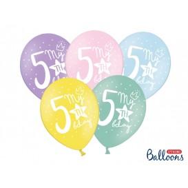 Balony piątki pastelowe