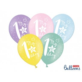 Balony roczek pastelowe