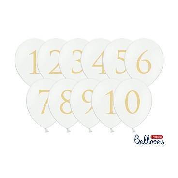 Balony z złotymi cyframi